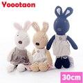 Le sucre 30 cm conejo kawaii juguetes de peluche de alta calidad originales niños conejito juguetes de cambiarse de ropa muñeca de peluche para los niños regalos