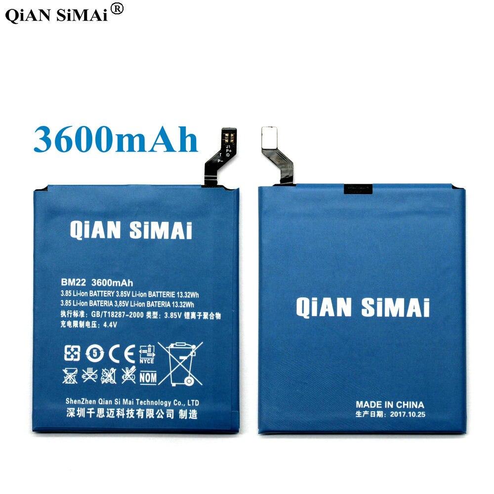 QiAN SiMAi 1pcs 100% High Quality BM22 3600mAh Battery For xiaomi 5 mi5 m5 mi 5 Mobile phone Free shipping + Tracking Code