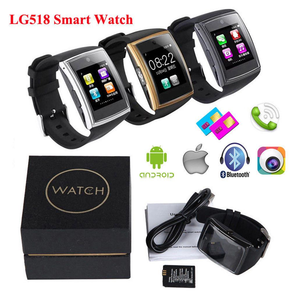 Timethinker LG518 Smart Watch Men Women Bluetooth NFC Watches SIM Card Answer Call Montre ECG Smartwatch Relojes Business Style
