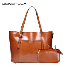 Women Genuine Leather Bag Set Fashion Designer Real Leather Bags Famous Brand Women Handbags Set Ladies Vintage Messenger Bags