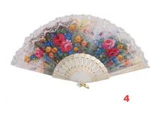 все цены на 36pcs/lot  white  lolita lace spanish hand Fan dance Elegant Fans wedding event gift party & festival show 12 Design онлайн