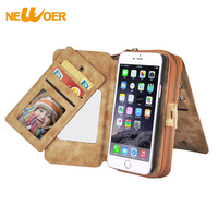 Wallet Card Bag For IPhone 7 7Plus Case Cover Magnetic Luxury PU Leather Wallet Card Bag