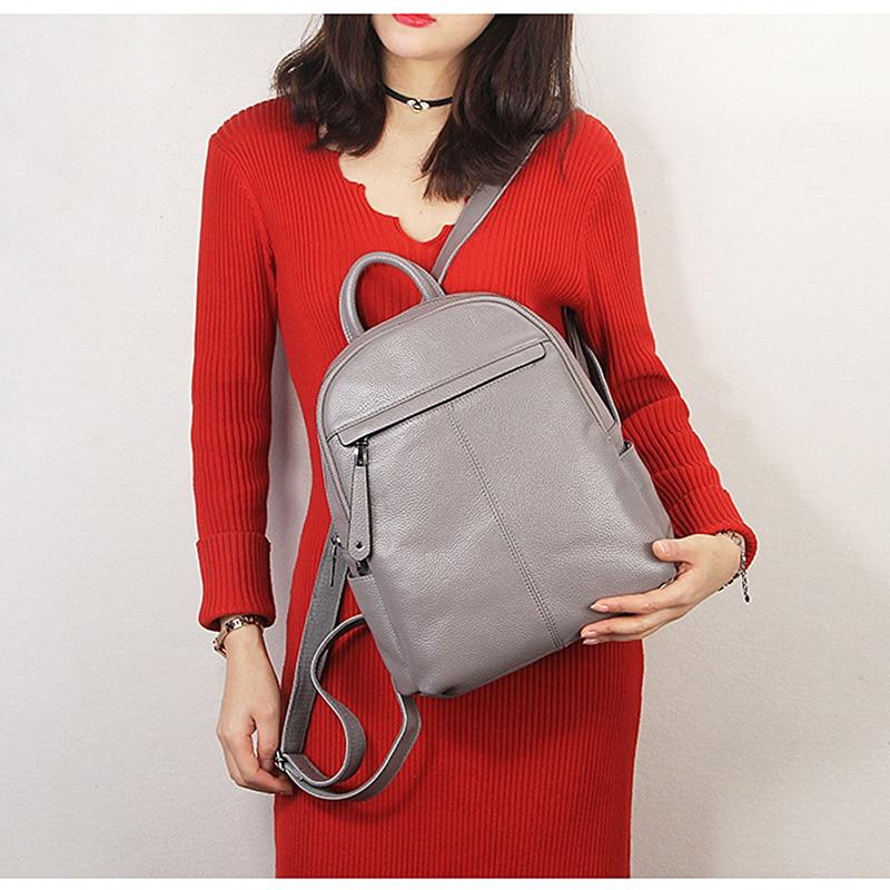 Burminsa Marke Echt 100% Echtem Leder Rucksack Schule Taschen Für Teenager Mädchen Kleine Frauen Reisetaschen Pack Mochila Feminina-in Rucksäcke aus Gepäck & Taschen bei  Gruppe 2