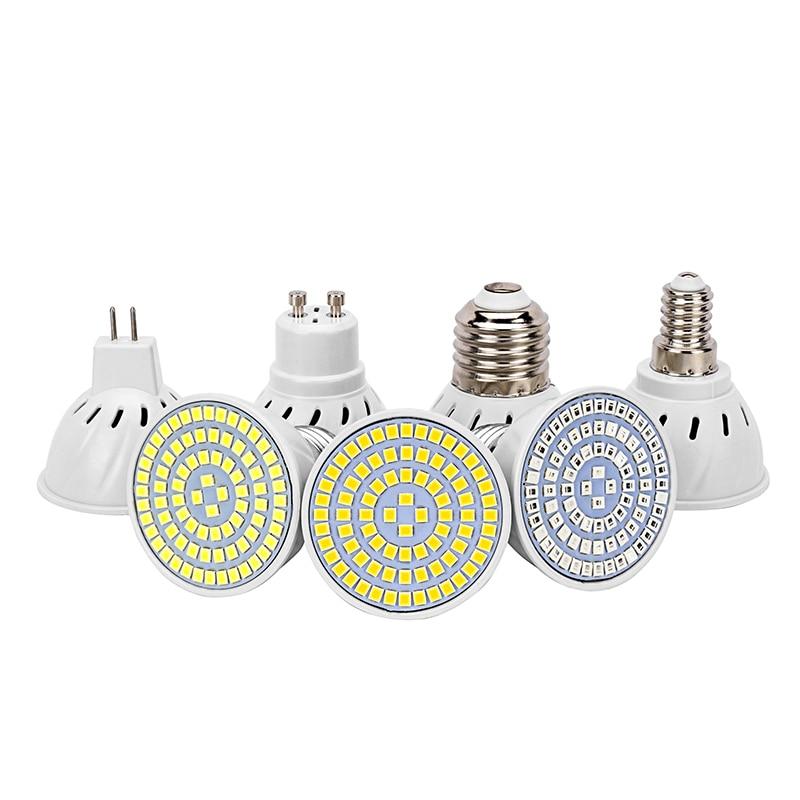 LED Bulb GU10 MR16 E27 E14 Spotlight AC220V 110V LED SMD Chip 36 60 80LEDS Diffusion Bulb Condenser Lamp Full Spectrum Cold Warm