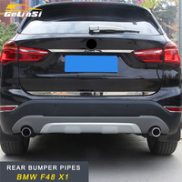 GELINSI rear bumper pipes Accessories For BMW F48 X1 2016 2017 2018 Auto Car styling