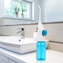 New 2 Nozzles Pressure Water Dental Flosser Portable Oral Jet Irrigator Nasal Irrigators Oral Flossing Tooth Cleaner Tools 90ml