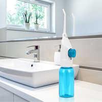 Nuevo 2 boquillas de presión Dental flotador de agua portátil irrigador de chorro Oral irrigadores nasales herramientas de limpiador de dientes Flossing Oral 180ml