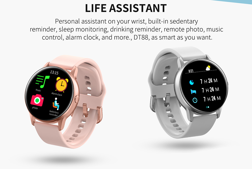 Women IP68 Waterproof Smart Watch for iPhone xiaomi LG with Bluetooth and Heart Rate Monitor Fitness Tracker 12