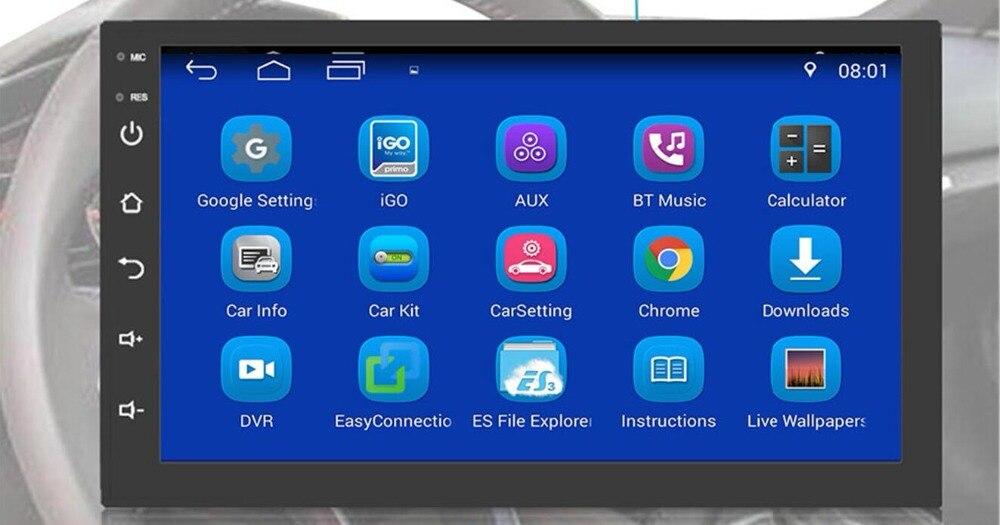 2 Din Android 9.0 universel autoradio pas de lecteur DVD GPS Navigation Quad Core voiture stéréo écran tactile Wifi OBD2 Headunit - 2