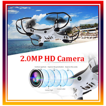 RC Quadcopter Plane Aircraft UFO 2.4Ghz 4CH 6 Axis Gyro Remote Control Drone with 2MP HD Camera Mini Drone Fly Toy