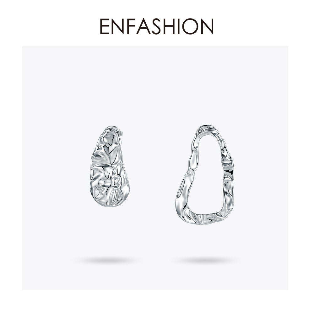 Enfashion géométrique grand cercle ondulation goutte boucles d'oreilles pour femmes déclaration boucles d'oreilles mode bijoux Boucle D'oreille 2019 EM191008