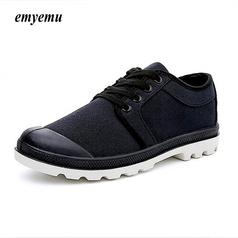 EMYEMU New Arrival High Quality Men Flats Shoes Breathable Fashion Men Casual Canvas Shoes Mens Flats