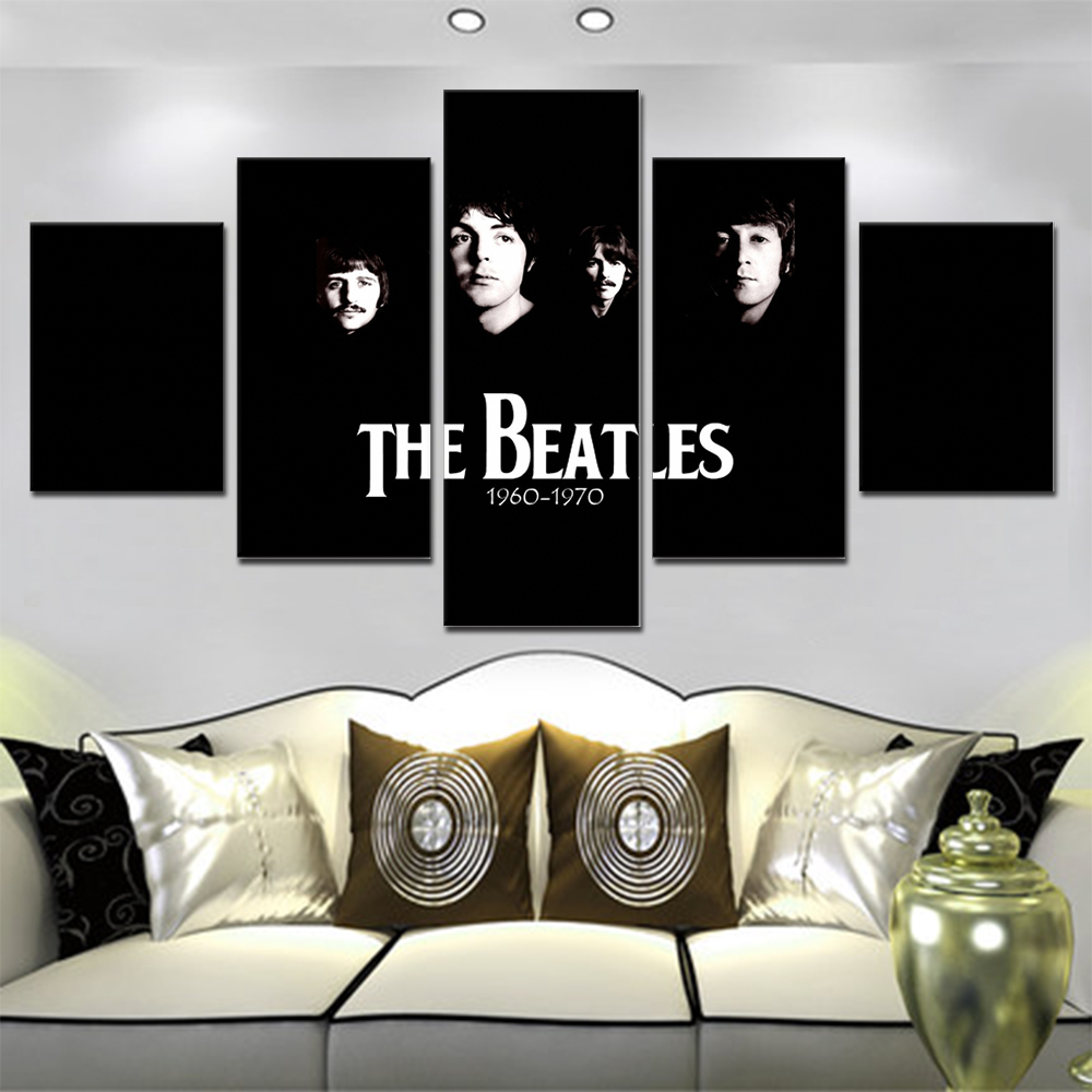 Unframed 5 HD Canvas Prints Band Photo Poster For Living Room Decoration Mural Module Art Spray Painting Dropshipping