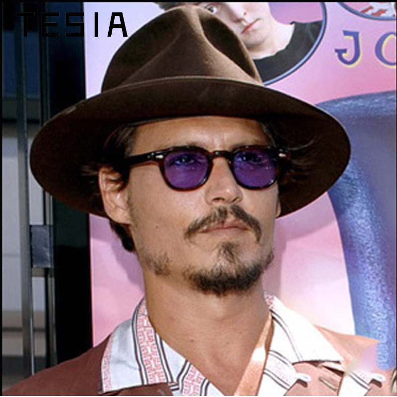 Vintage Johnny Depp Sunglasses Men Brand Designer Oval Tint Retro Sun Glasses With Clear Lens Wholesale Drop Shipping