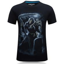 T shirt Men 2017 New Fashion Brand Men's Casual 3D Printed Man's T shirt Cotton Men Clothes Skulls Camiseta Masculino S-6XL