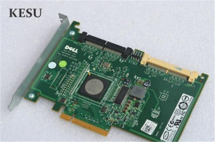 US $11 89 |adapter for DELL PERC 6IR R610 R710 8 ports SATA SAS CR679 JW063  YK838 HDD RAID Controller card host card 1068E chipset RAID 0/1-in