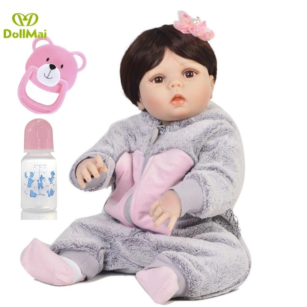 NPK Reborn Baby Doll Lifelike American BJD Vinyl Dolls Brinquedo Menina Boneca