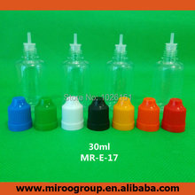 Free Shipping 10pcs transparent clear 30ml PET plastic eye dropper bottles with Childproof Cap & Long Thin Tips for Most Liquids