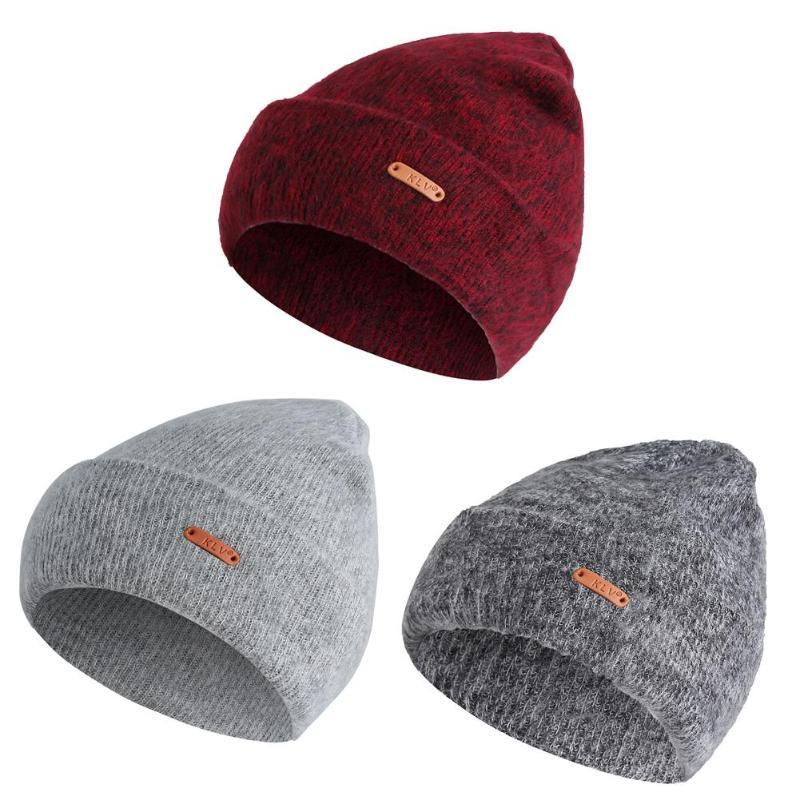 e7aaec7e4e1 Unisex Warm Winter Hats Male Female Cashmere Wool Beanie Knitted Cap New  Arrival Xmas Casual Men