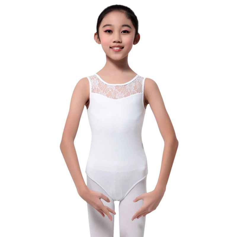 Girls Kids Ballet Gymnastics Sleeveless Leotards Dance Stretchy Bodysuit Costume