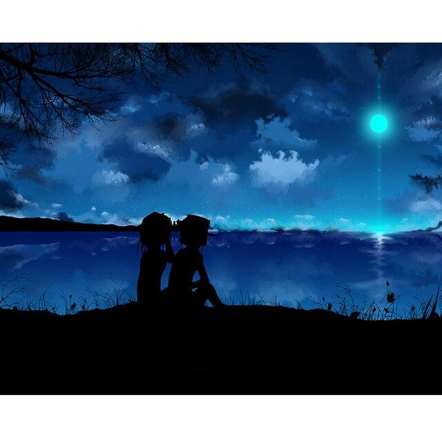 dark night sky wall sticker diamond painting cross stitch diamond