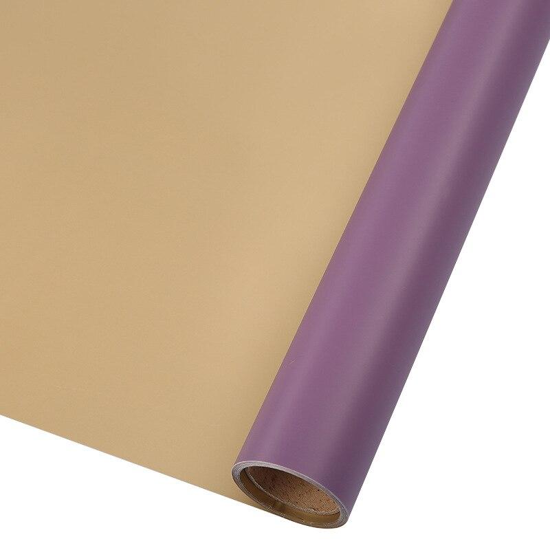 60 см* 10 м/рулон конфеты цвет цветок оберточная бумага Роза свадебная бумага для украшения на рождество упаковка букета материал - Color: N8
