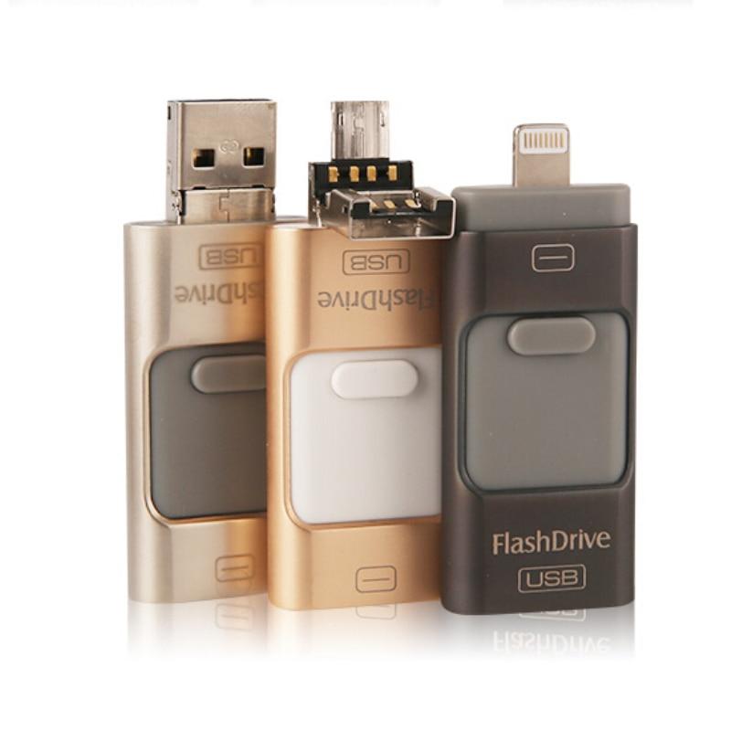 i Flash Drive 32gb 64gb Mini Usb Metal Pen Drive Otg Usb Flash Drive For iPhone