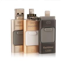 i-Flash Drive 32gb 64gb Mini Usb Metal Pen Drive Otg Usb Flash Drive For iPhone 7/7Plus/5c/6/6 Plus/ipad i-Flashdrive Pendrive