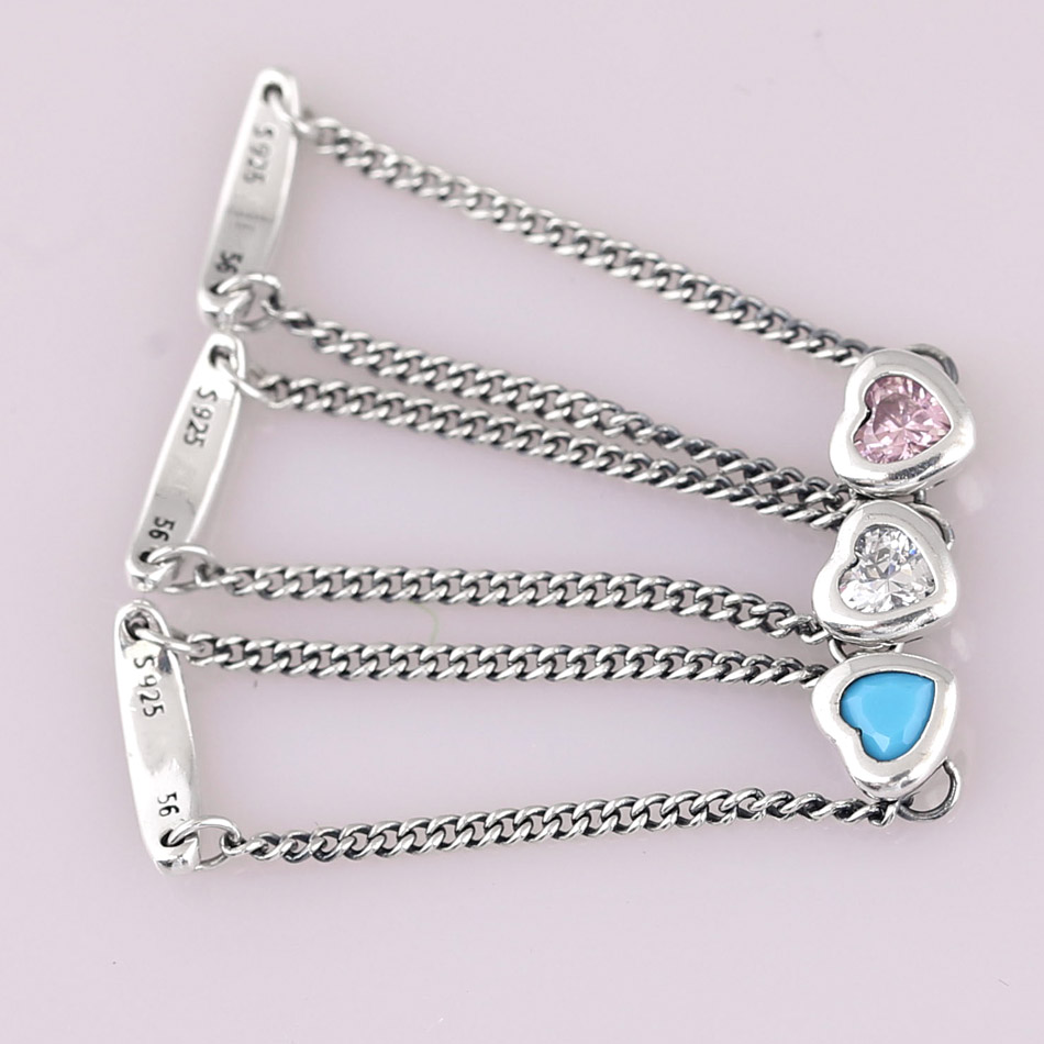 a9410b9e5 Pink&blue&clear Spirited Heart Rings Authentic 925 Sterling Silver Ring For  Women Wedding Party Gift Fine Europe Jewelry-in Jewelry Sets from Jewelry  ...