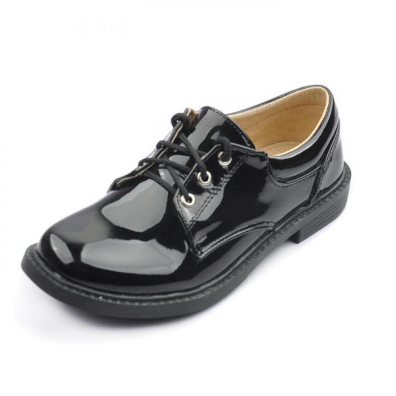 Boys Genuine Leather School Shoes Kids Wedding Dress