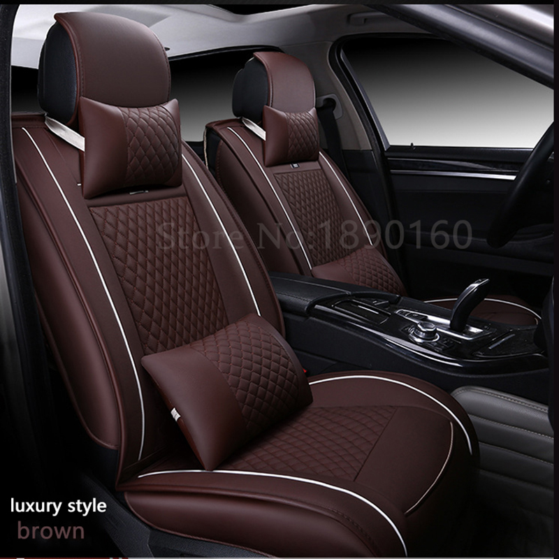 (Front + Rear) Special Leather car seat cover For Volvo S60L V40 V60 S60 XC60 XC90 XC60 C70 s80 s40 auto accessories car styling car rear trunk security shield cargo cover for volkswagen vw tiguan 2016 2017 2018 high qualit black beige auto accessories