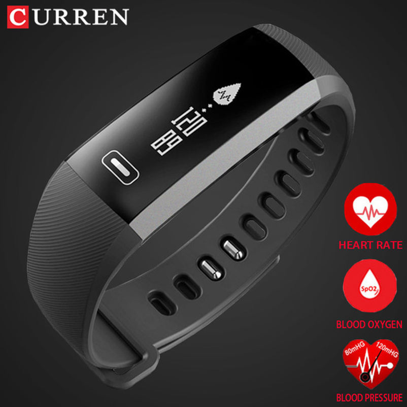 Smart wrist Band Heart rate Blood Pressure Oxygen Oximeter Sport Bracelet Watch intelligent For iOS Android Smartband CURREN R5 new curren x4 smart phone watch heart rate step counter stopwatch ultra thin bluetooth wearable devices sport for ios android