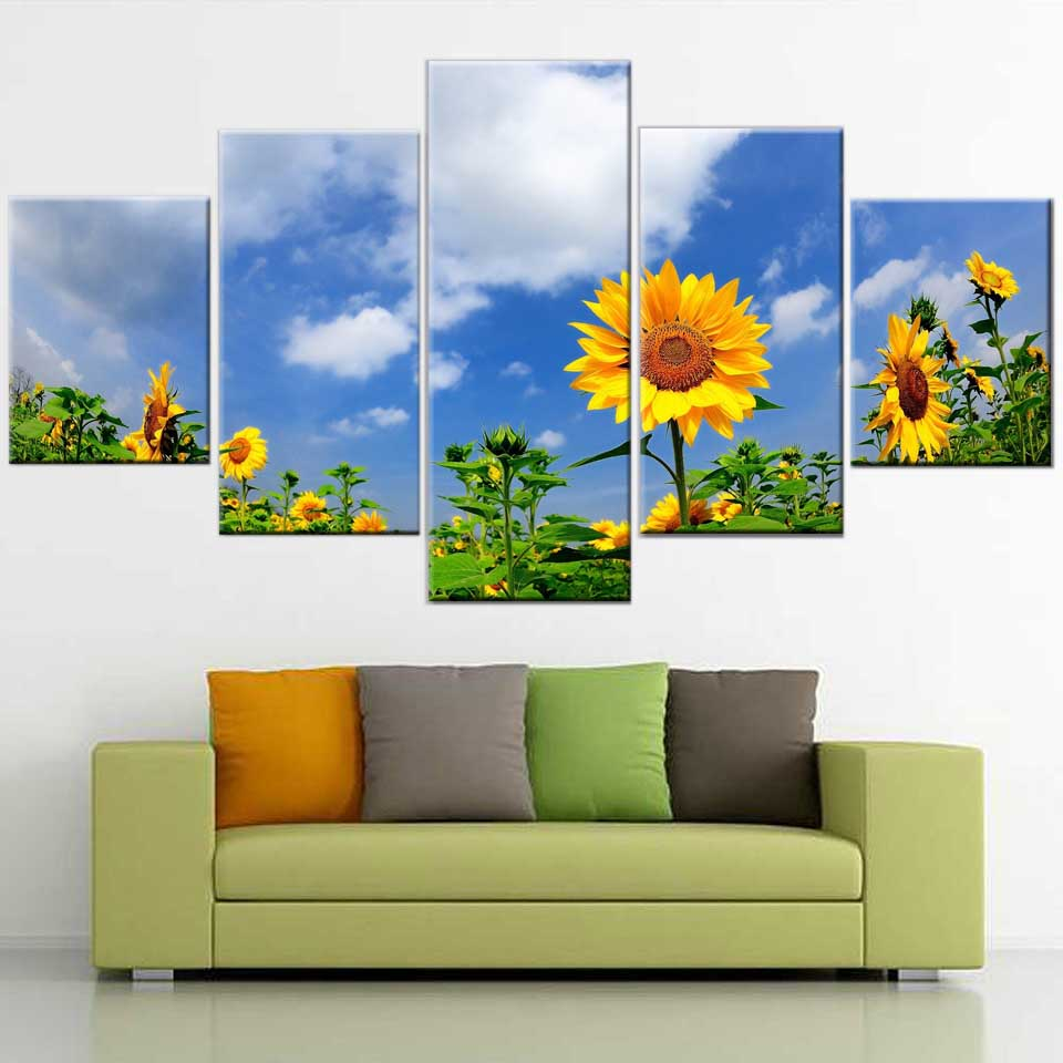 Home Decor Wall Art Canvas Painting Living Room 5 Panels