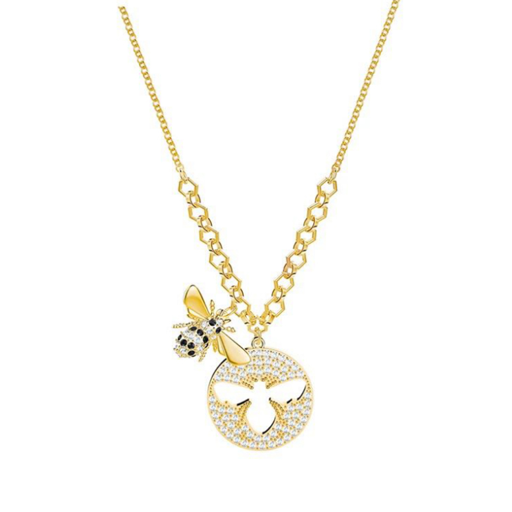2018 New Cute Bee Necklace Clavicle Chain Hundred Matching Female Jewelry Anniversary Wedding Birthday Recommendation Gift 2018 New Cute Bee Necklace Clavicle Chain Hundred Matching Female Jewelry Anniversary Wedding Birthday Recommendation Gift