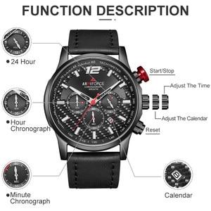 Image 4 - Men Watch Top Brand Luxury ARMIFORCE Mens Leather Sports Watches Quartz Mens Wristwatch Chronograph Clock Relogio Masculino
