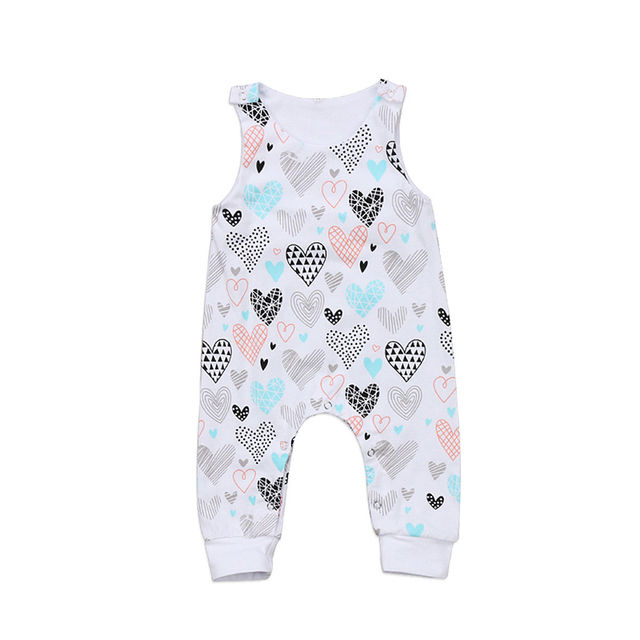 8c8cd988cd83 Baby Rompers Infant Baby Girl Boy Heart Romper Sleeveless Jumpsuit ...