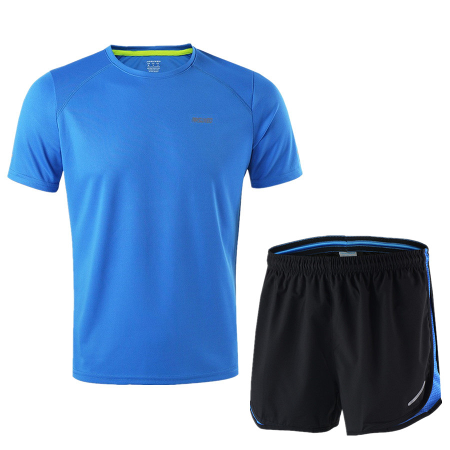 Image 3 - ARSUXEO Running Set Men Jogging Jersey Sports Suit Gym Clothing Sportswear Breathable Marathon Shorts and Running Shirts-in Running Sets from Sports & Entertainment on AliExpress
