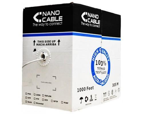 Bobine câble réseau RJ45 CAT.5E FTP rigide AWG24, 305 M cuivre Nanowire 10.20.0704