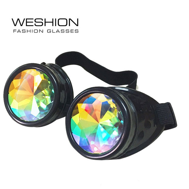 3b1a1c159 WESHION Sunglasses Women Men Oculos Goggles Sandstorm Steampunk 2018 Catwalk  Dazzle Artificial Lens Gothic Round