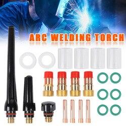 1 zestaw spawanie TIG Torch Stubby soczewka gazowa szkło akcesoria do kubków zestaw do WP17 18 26 can CSV