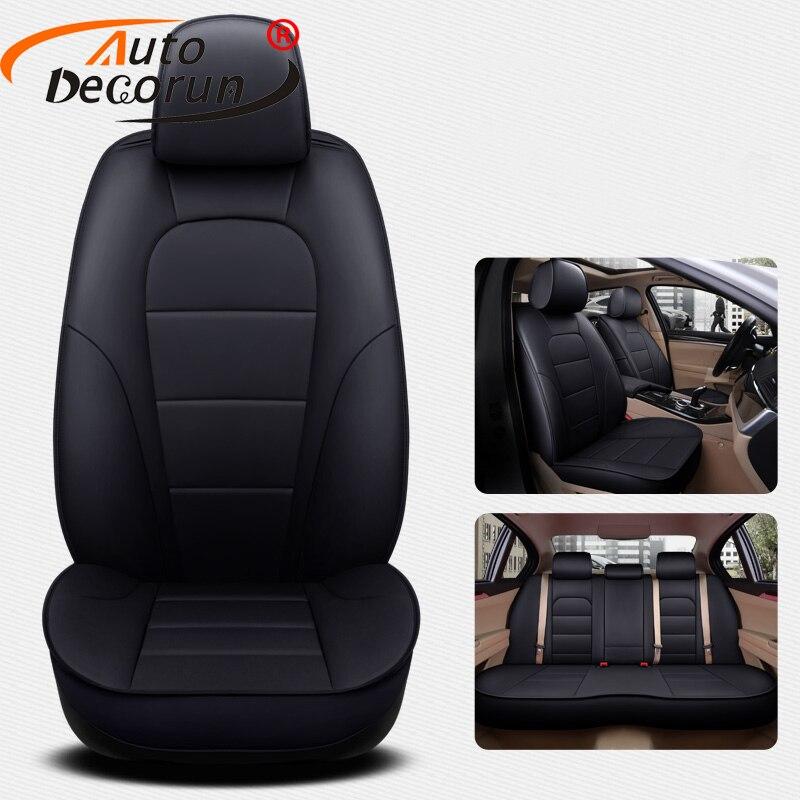 AutoDecorun cuir de vachette couvre siège pour mercedes-benz CLK 200 K 240 350 Automobiles siège housse de siège de voiture Supports accessoires