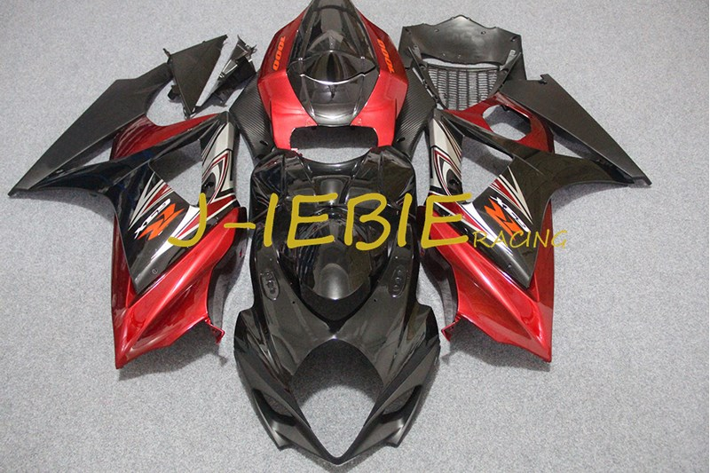Black red Injection Fairing Body Work Frame Kit for SUZUKI GSXR 1000 GSXR1000 K7 2007 2008Black red Injection Fairing Body Work Frame Kit for SUZUKI GSXR 1000 GSXR1000 K7 2007 2008
