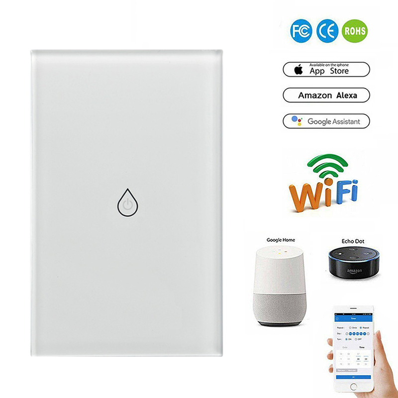 Image 2 - US Plug Smart Wifi Water Heater Switch Boiler Switches Alexa Google Home Voice Touch Panel Timer Outdoor 4G App Control-in Home Automation Modules from Consumer Electronics
