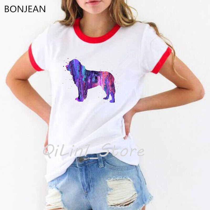 Hipster fajny jamnik akwarela koszulka femme lato moda damska T koszula ładna dziewczyna Top na co dzień tshirt uroczy pies artystyczny Design