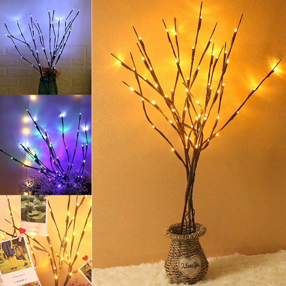 6 Types LED Tree Light Floor Lamp Holiday Home Outdoor Wedding Christmas Decor Birthday Gifts 30x42cm personalize wedding tree guest book alternative wedding tree fingerprint guestbook thumbprint books get 6 ink pads free
