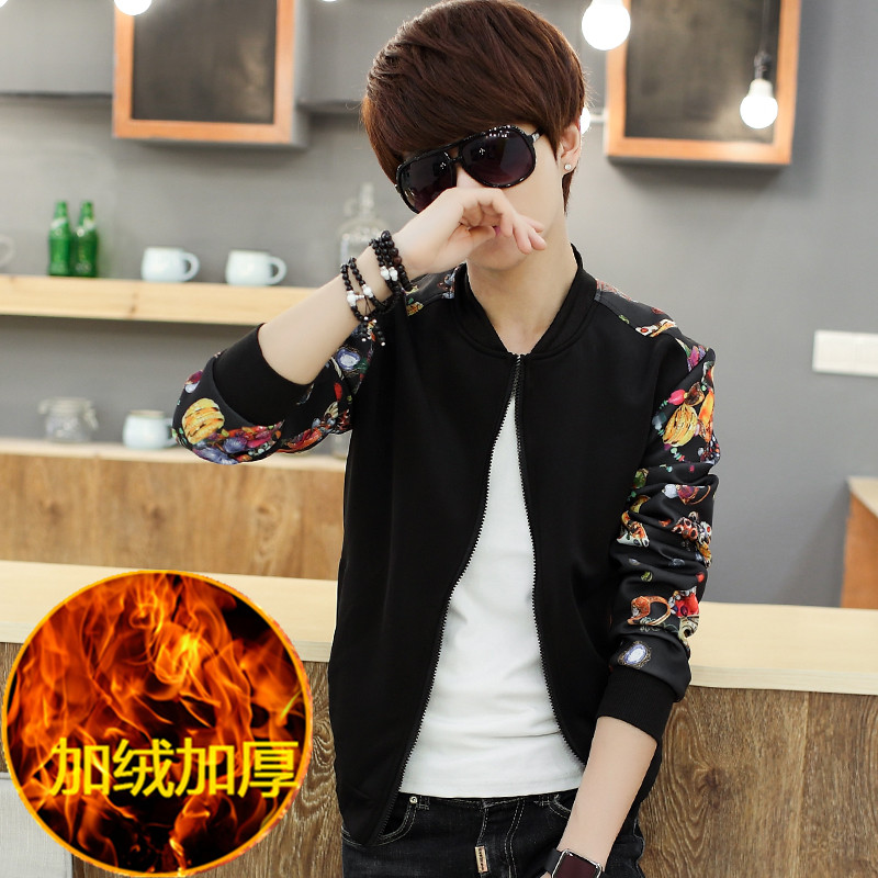 Autumn And Winter Thicked Velvet Juvenile Bomber Jacket Mens Jackets And Coats Outerwear ...