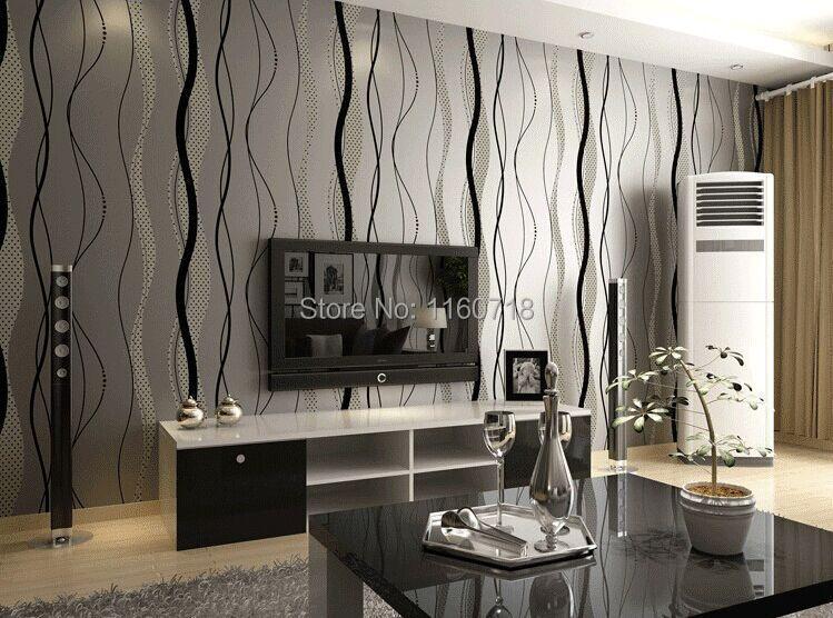 neue ankunft modernisieren vlies tapeten wohnzimmer hintergrund ... - Tapete Grau Beige