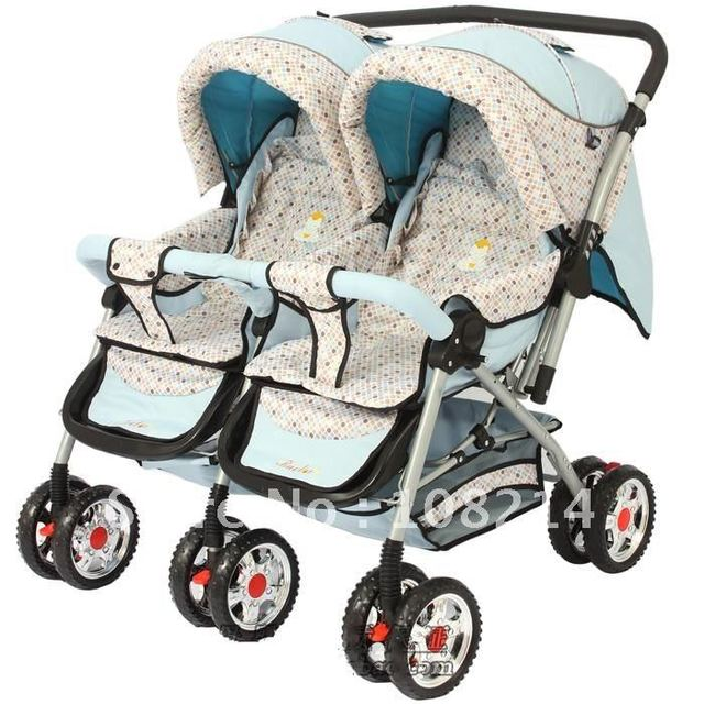 100% New Brand Baby twins pram,DOUBLE PRAM promotion for sale-in Three Wheels Stroller from