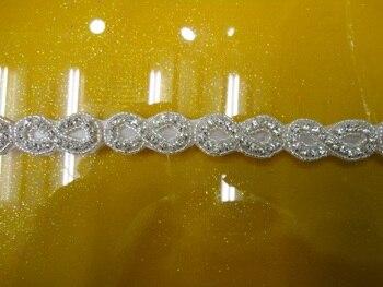 Free shipping 5Yard /lot pearl rhinestone applique bridal accessories, hair accessories,diamond rhinestone applique trim