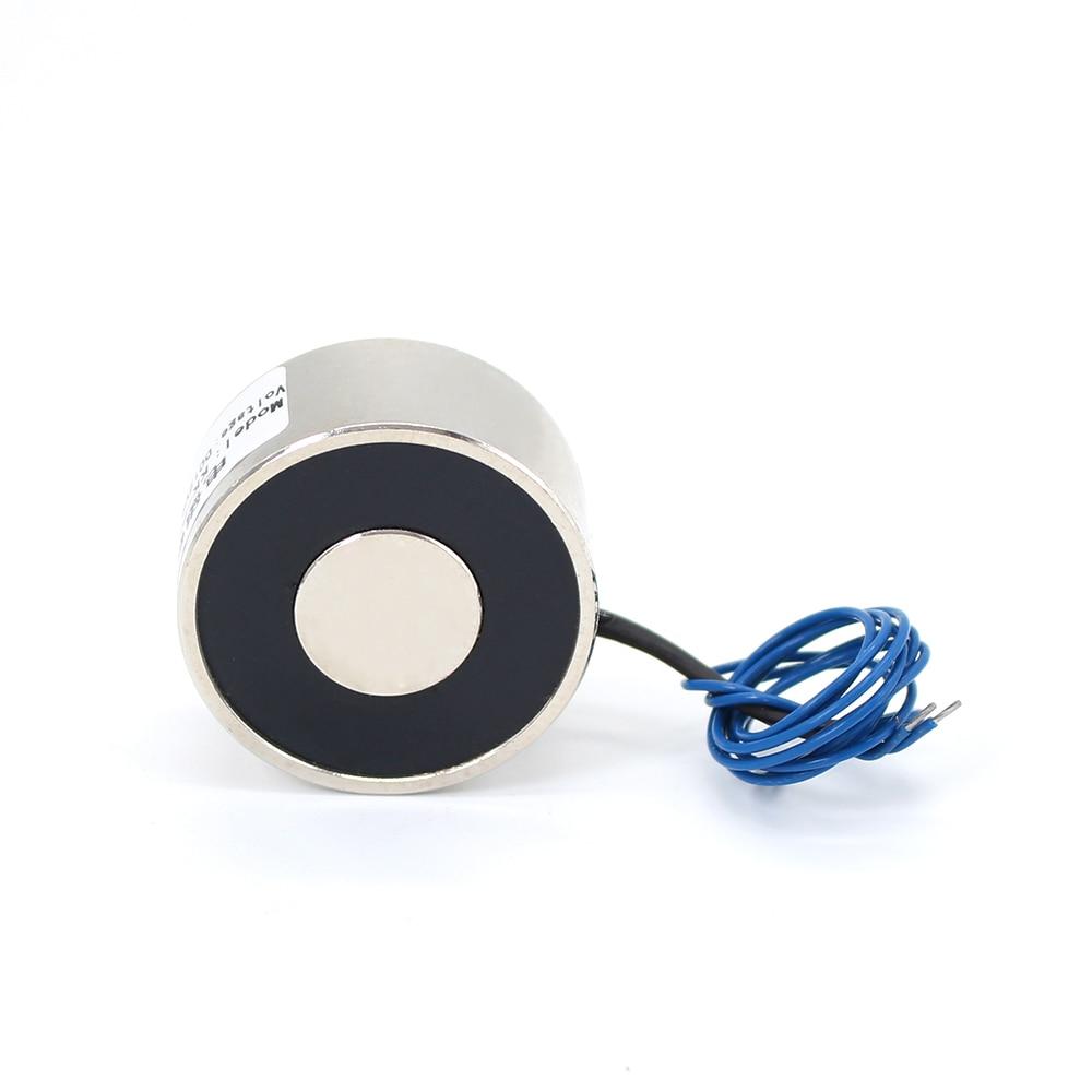 цена 40*25mm Suction 30KG 300N DC 5V/12V/24V Mini solenoid electromagnet electric Lifting electro magnet strong holder cup DIY 12 v